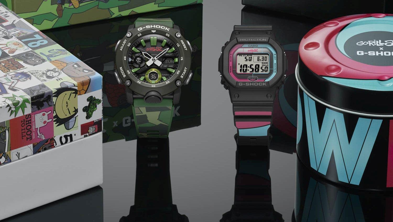 G-SHOCK x Gorillaz街頭雙霸再次發表聯名錶款,一次兩款讓粉絲把經典專輯封面戴著走