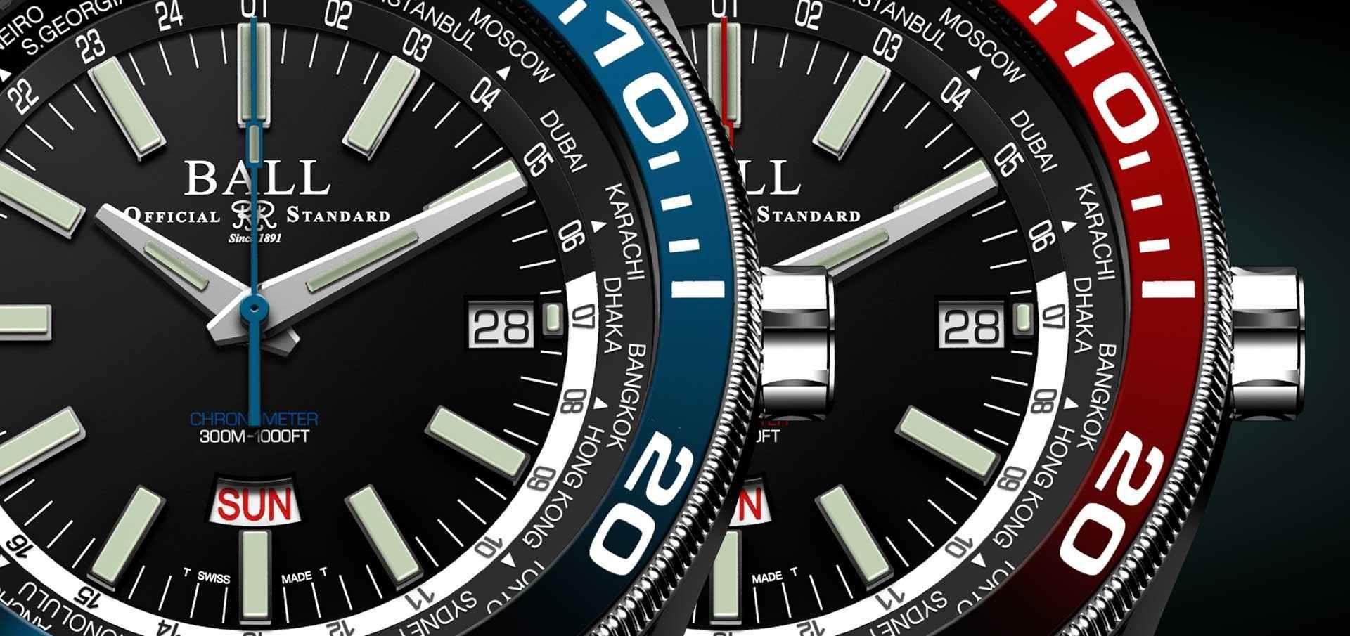 唯一同時配備世界時區及星期日期顯示:BALL Watch Roadmaster Worldtime世界時區腕錶