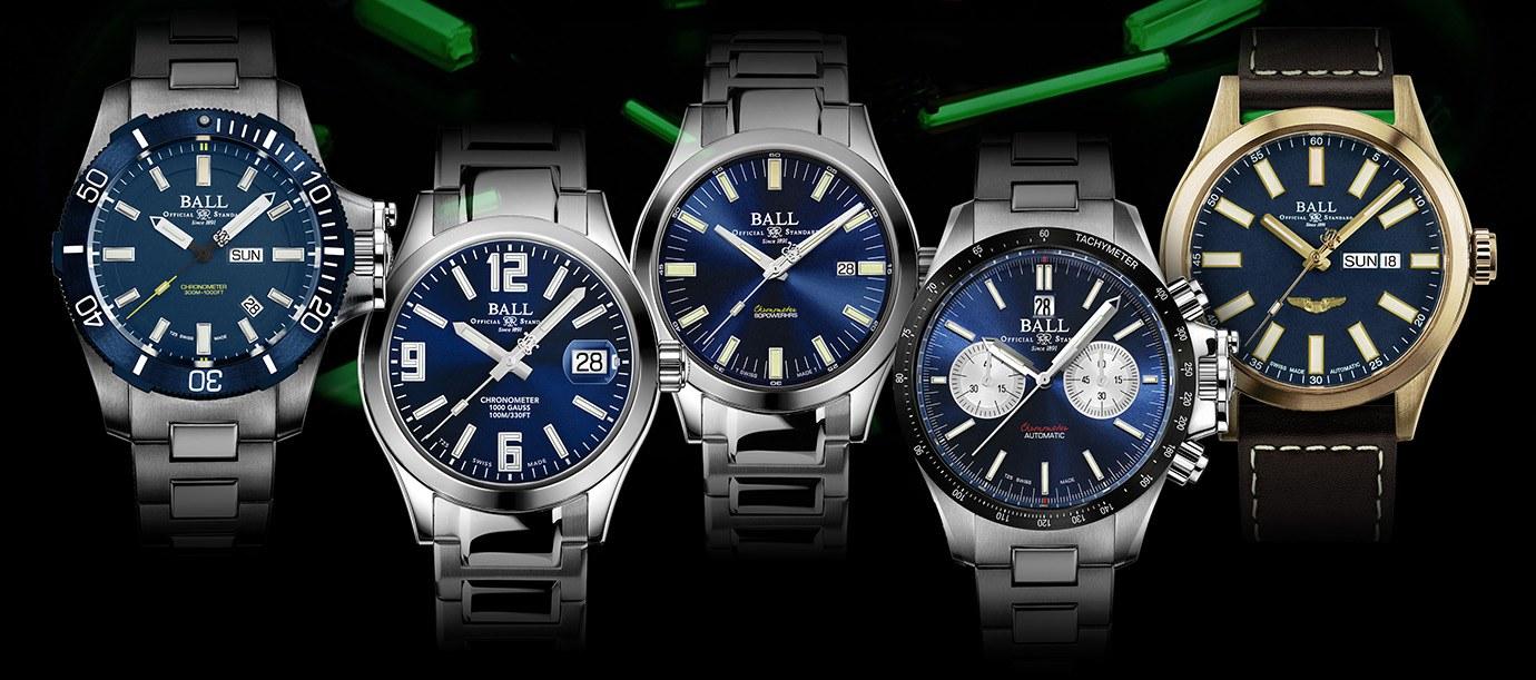 感受沉穩內斂的色彩:BALL Watch藍面大集合
