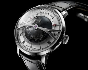 黑暗腕上蒼穹:Arnold & Son Globetrotter Night