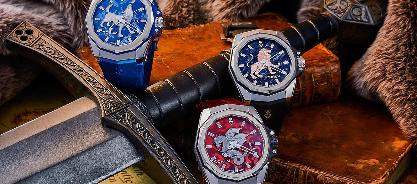 《冰與火之歌》的奇幻生物:Corum Admiral AC-One海軍上將系列圖騰腕錶