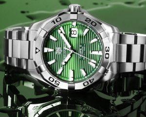 夢幻青蘋果綠:TAG Heuer Aquaracer綠面腕錶