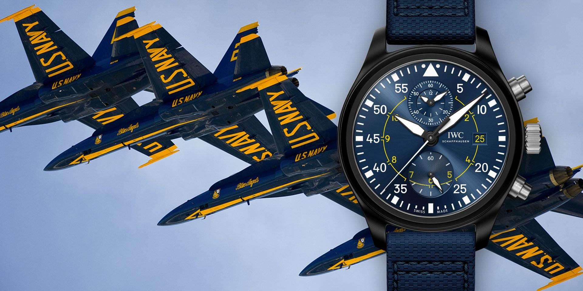 膺任美國海軍特技飛行隊官方合作夥伴,IWC推出飛行員計時腕錶「藍天使」BLUE ANGELS特別版