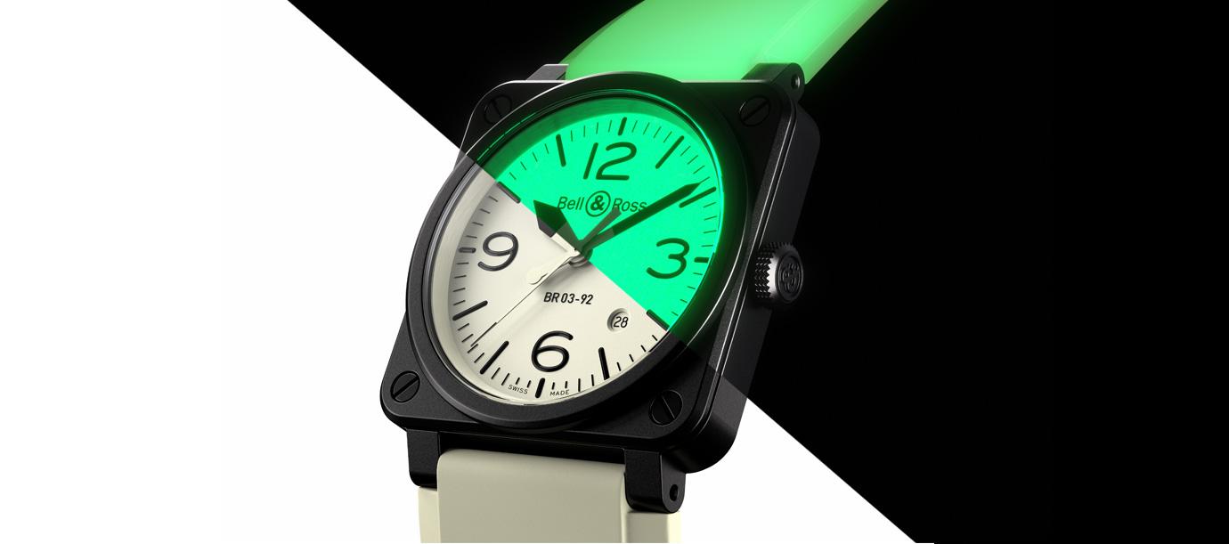 連錶帶都散發誘人夜光:Bell & Ross BR03-92 Full Lum限量腕錶