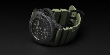 PANERAI沛納海全新Submersible Marina Militare Carbotech專業潛水碳纖維腕錶