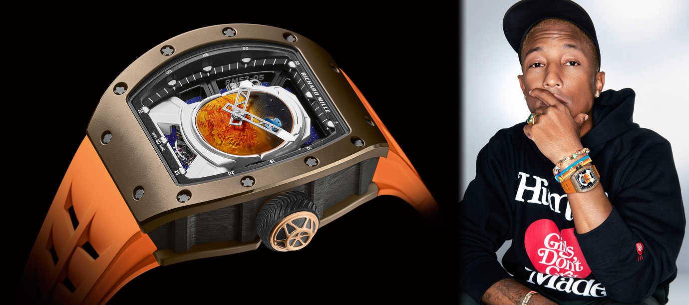 與饒舌歌手跨界聯名:RICHARD MILLE RM 52-05 Pharrell Williams陀飛輪腕錶