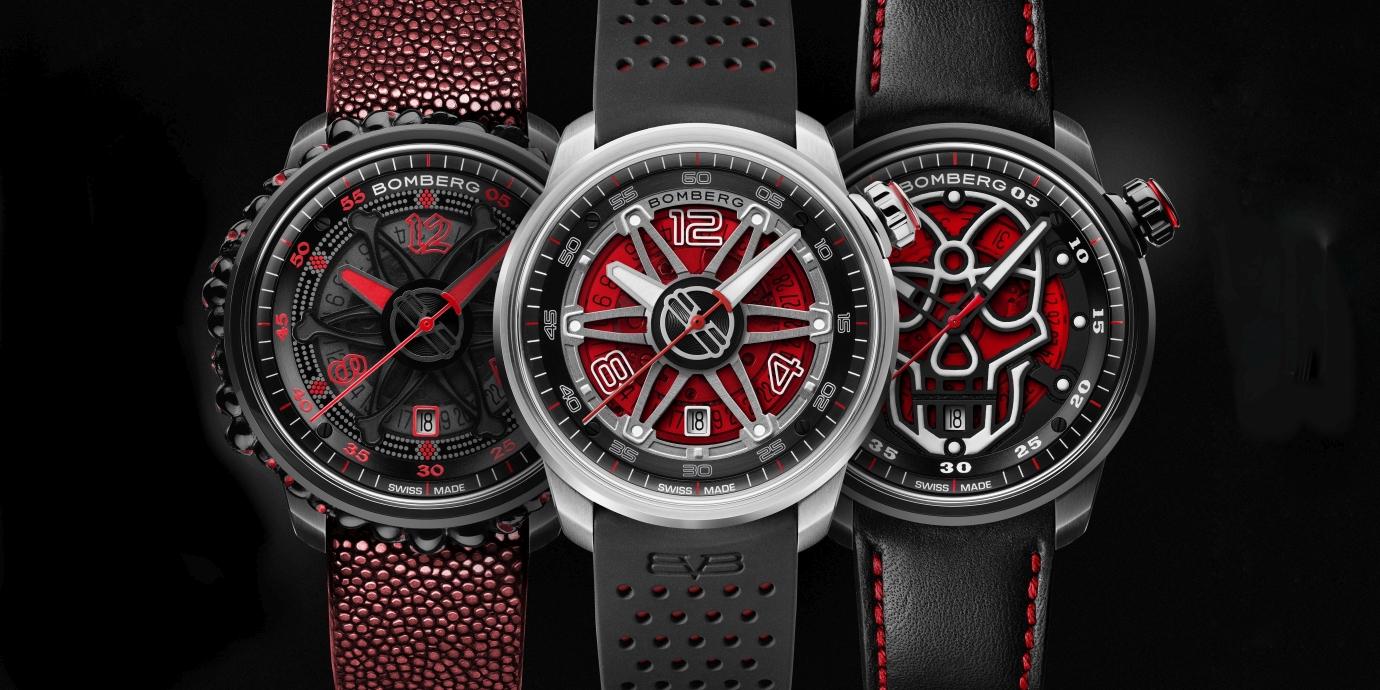 點燃聖誕精神:BOMBERG BB-01 Automatic 腕錶換上熱力十足的火紅新衣