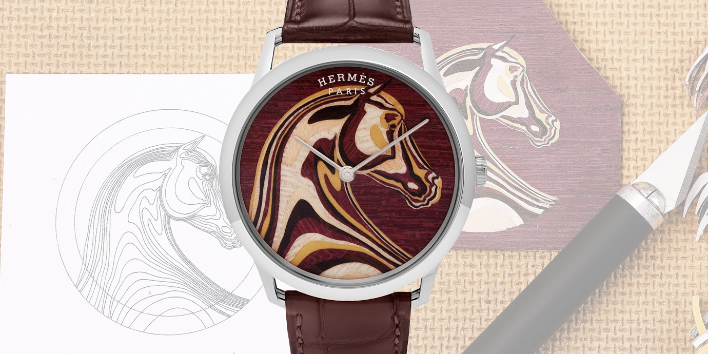 用木頭玩出新花樣:愛馬仕Slim d'Hermès腕錶
