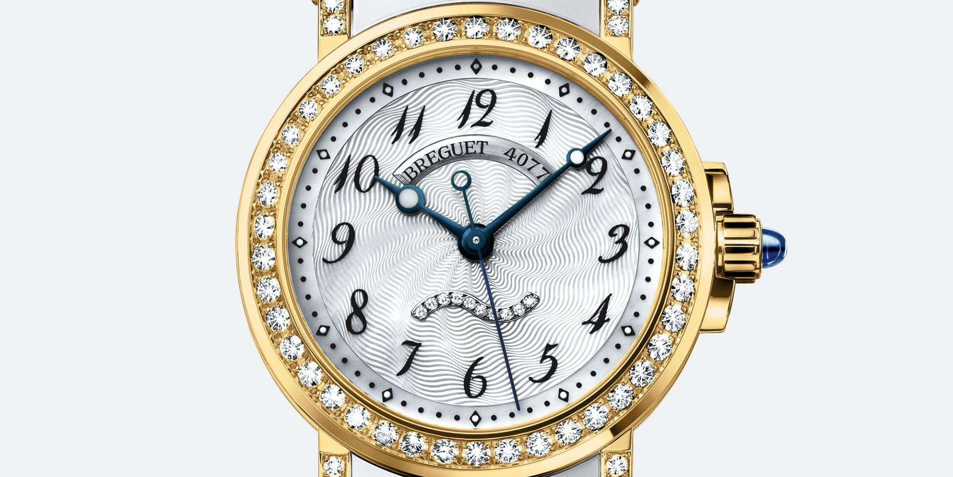 黃金與美鑽的海洋協奏曲:寶璣黃金年代聖誕錶展呈獻Marine 8818大三針鑲鑽腕錶
