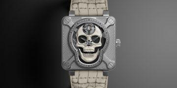 讓骷髏再次大笑:Bell & Ross BR 01 Laughing Skull WHITE腕錶