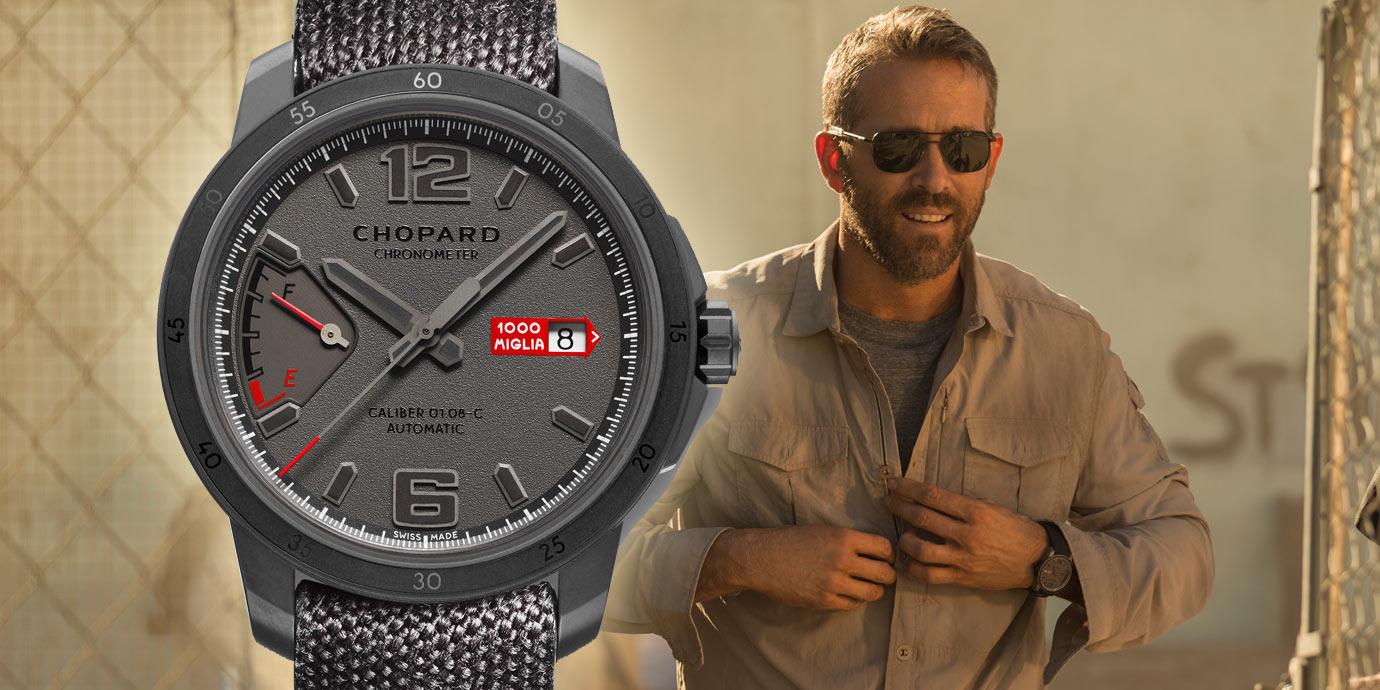 死侍新寵:Ryan Reynolds佩戴Chopard系列腕錶演出《鬼影特攻:以暴制暴》