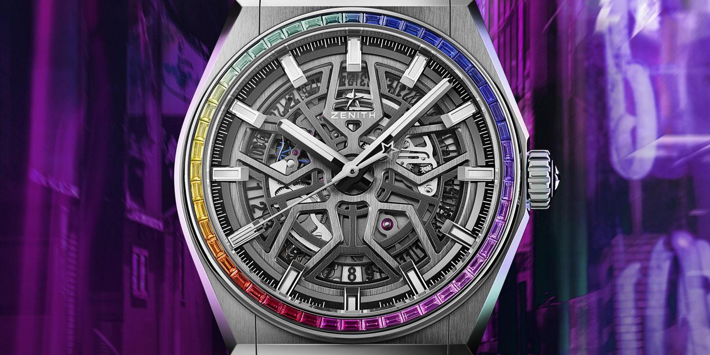充滿科技感的彩虹圈:Zenith Defy Classic Rainbow限量版腕錶