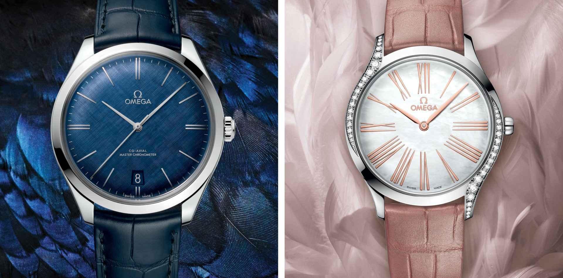 愛.迎風翱翔:歐米茄碟飛Trésor 36毫米腕錶與藍色碟飛Trésor 40毫米腕錶