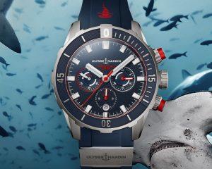 猛鯊出沒:Ulysse Nardin錘頭鯊潛水計時腕錶限量版