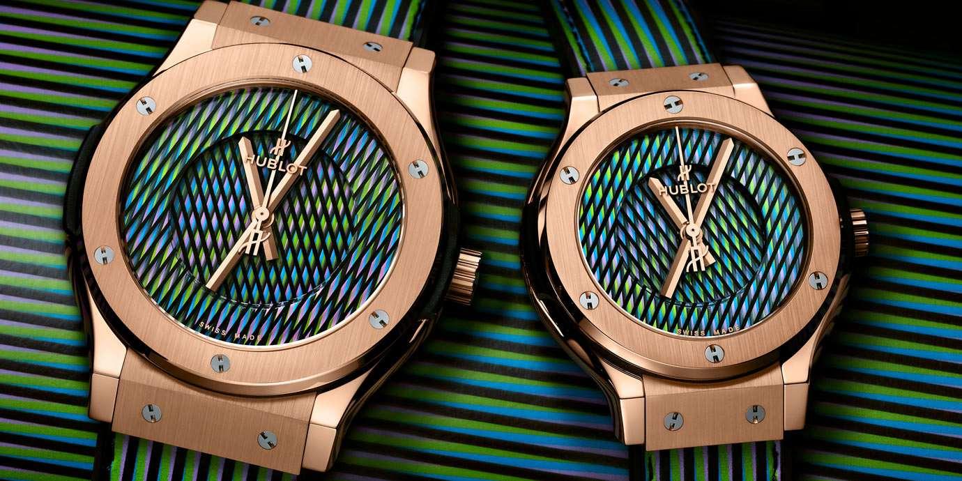 聯手「動態色彩大師」:Hublot經典融合系列 Cruz-Diez魔幻時刻腕錶