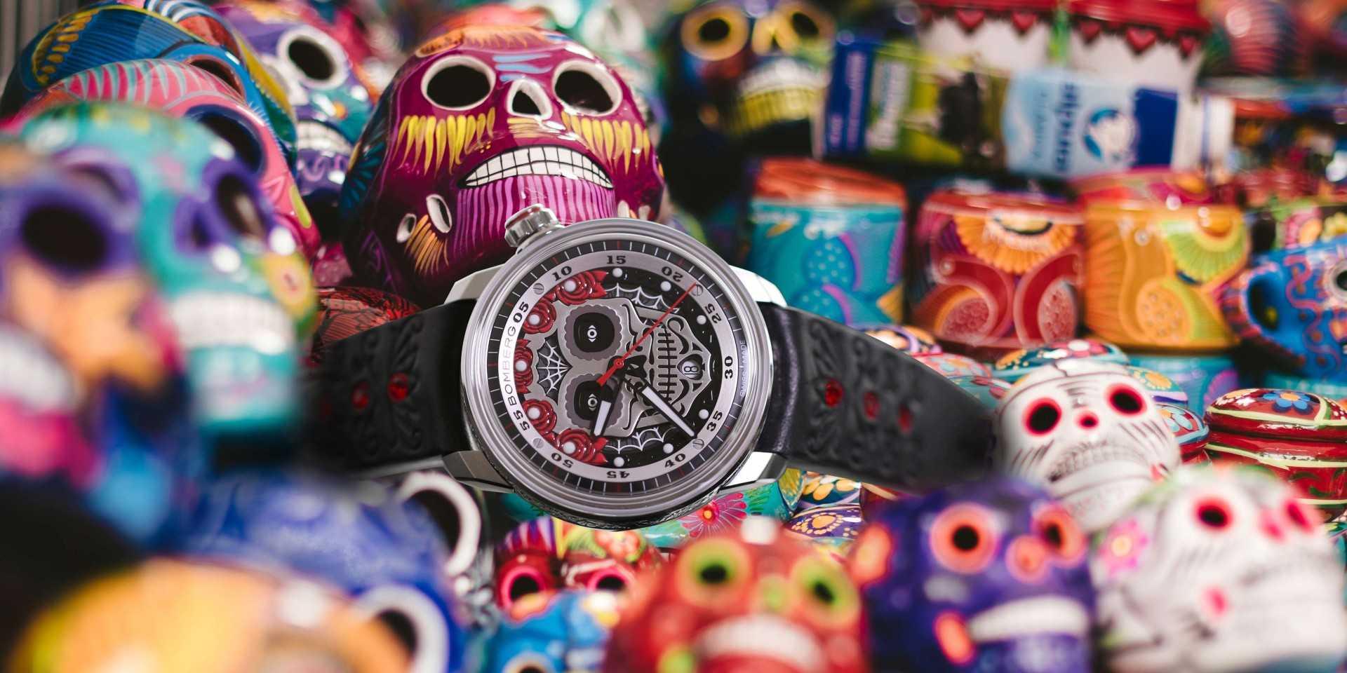 疫情嚴峻,更要擊退死亡陰影:BOMBERG BB-01 Día de los Muertos卡拉維拉骷髏限量腕錶