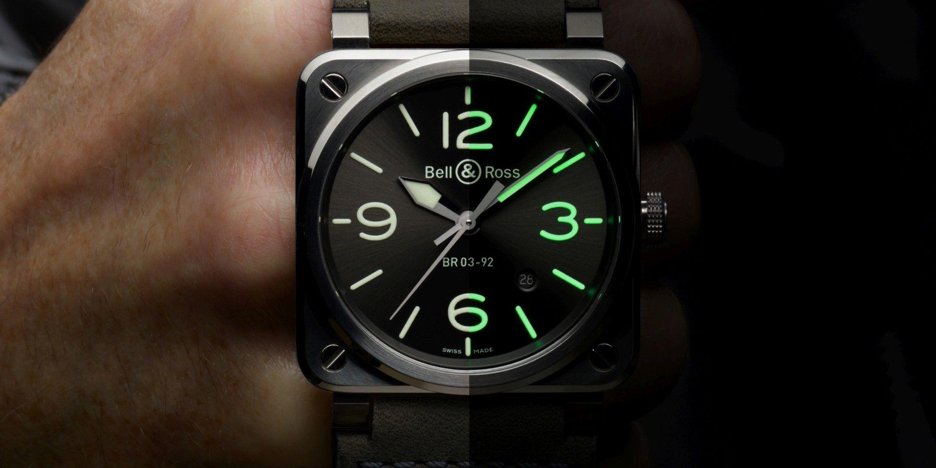 【2020線上錶展】無論白晝黑夜,時刻清晰易讀:Bell & Ross BR 03-92 Grey Lum腕錶