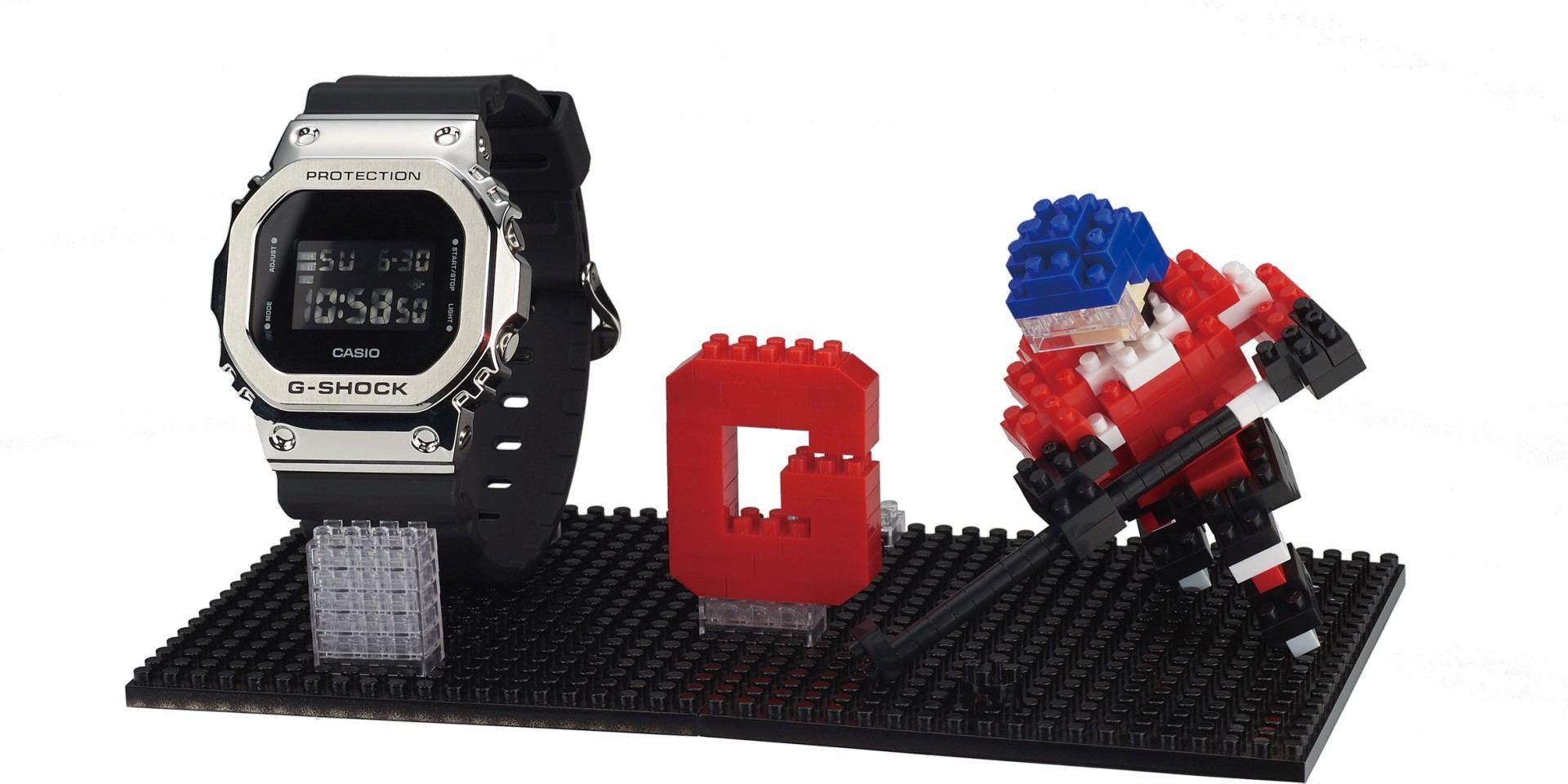 最強悍腕錶與最迷你的積木超強聯名:買G-SHOCK GM-5600系列錶款可獲贈nanoblock聯名迷你積木