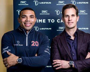 IWC葡萄牙手上鏈單按鈕計時腕錶「勞倫斯體育公益基金會」特別版