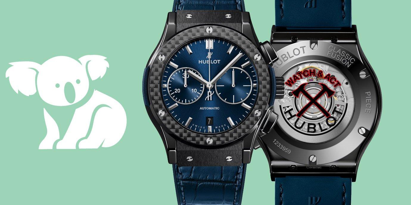 打造特別款參與義賣:Hublot Classic Fusion守護與援助特別版腕錶
