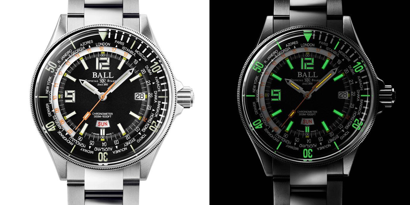 能看世界時間的潛水錶:BALL Watch Diver Worldtime腕錶