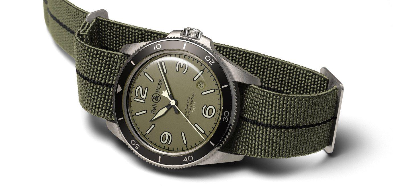 復古軍綠:Bell & Ross BR V2-92 Military Green