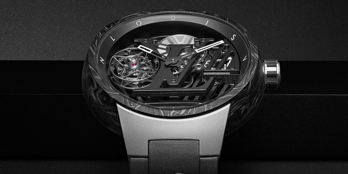 科幻大秀:路易威登Tambour Curve Flying Tourbillon日內瓦印記腕錶