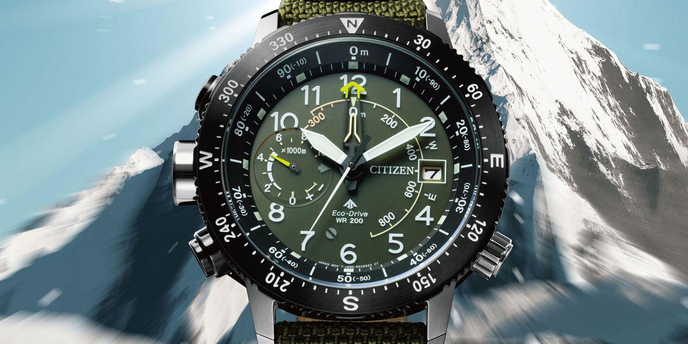 戶外運動風:CITIZEN Promaster光動能高度計腕錶