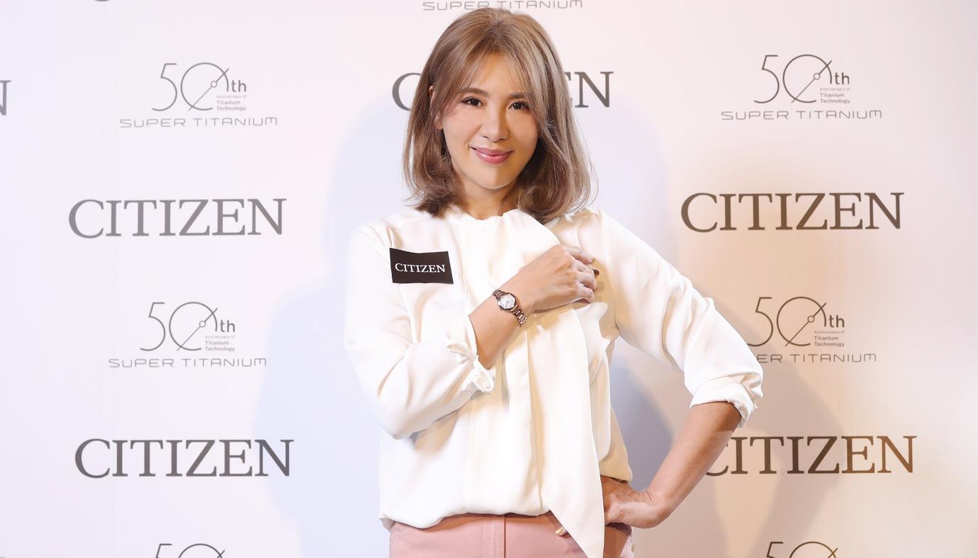 展現女性的甜美面貌:CITIZEN全新光動能限定款女錶
