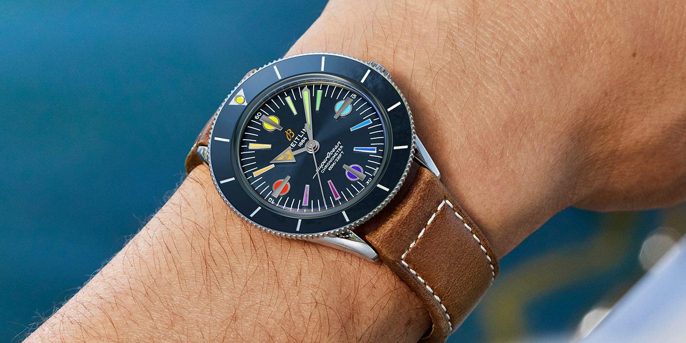 用彩虹向前線醫療人員致敬:百年靈Superocean '57二代彩虹限量版腕錶