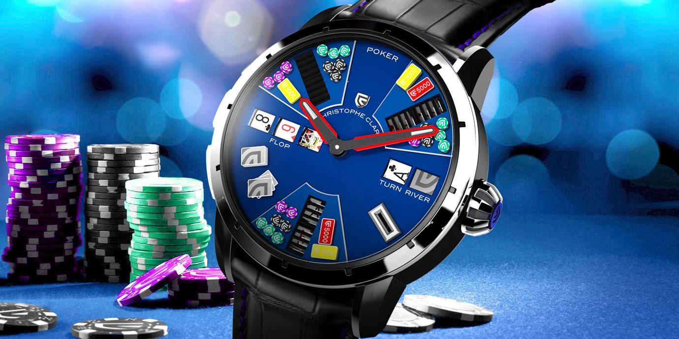 用手錶玩德州撲克?! 有請Christophe Claret Poker來示範