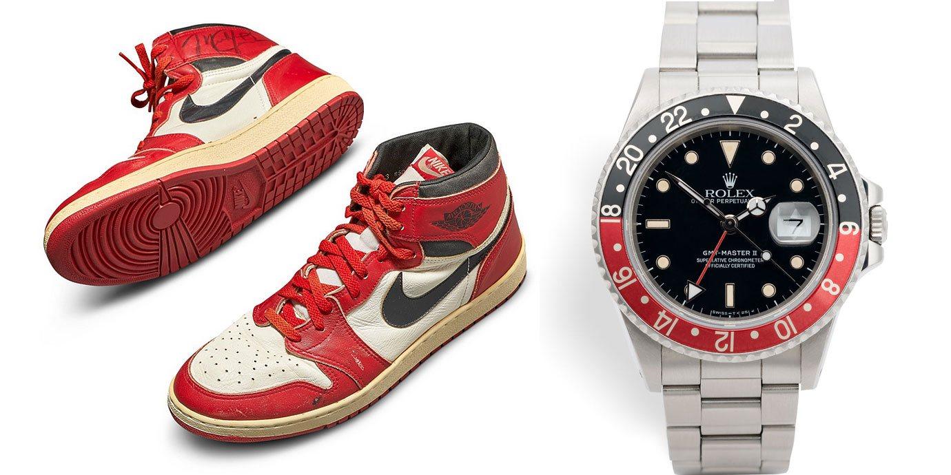 神之境界:破拍賣紀錄的Air Jordan第一代籃球鞋 X Rolex GMT Master II可樂圈