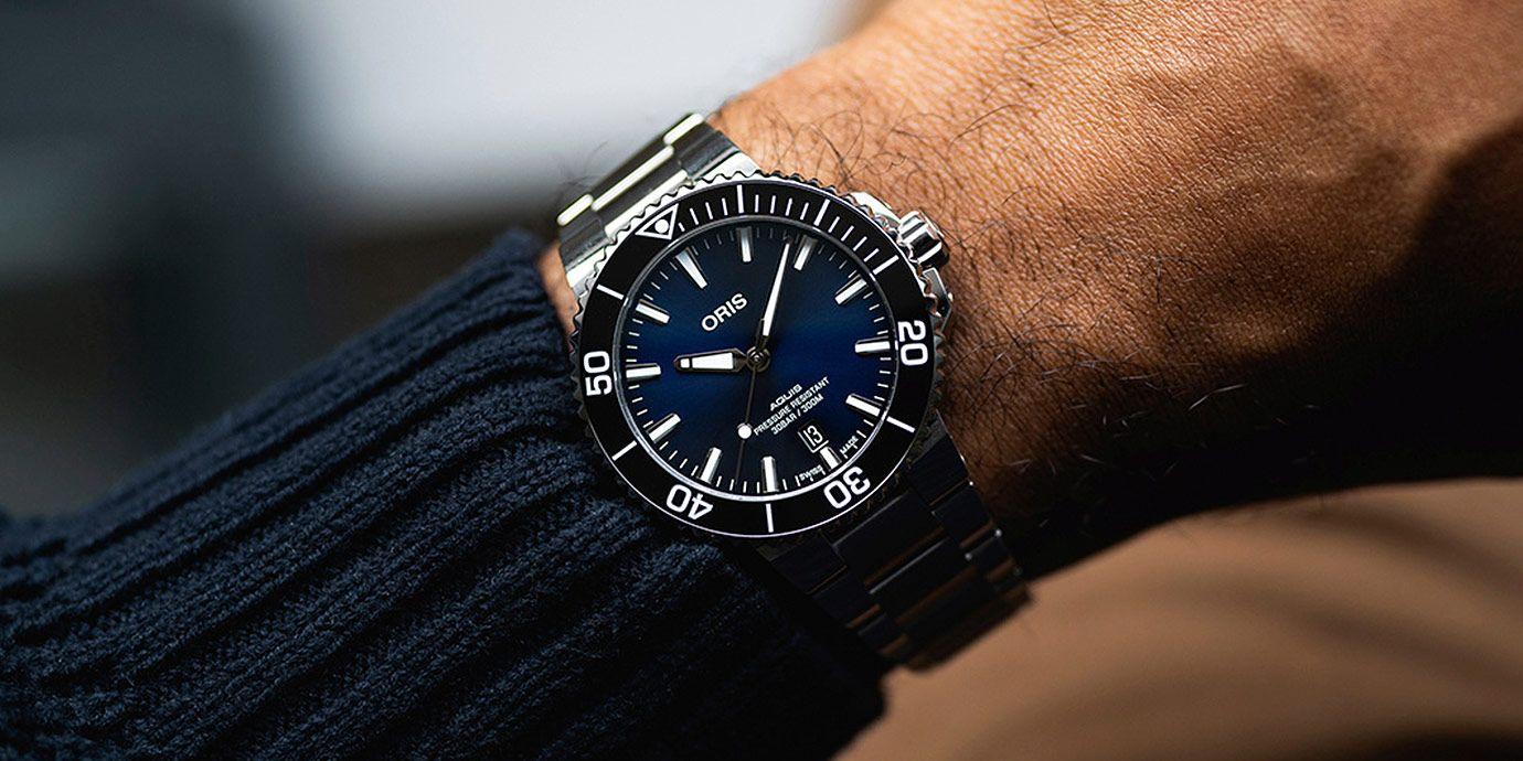 相約疫情後徜徉大海:Oris Aquis日期潛水錶