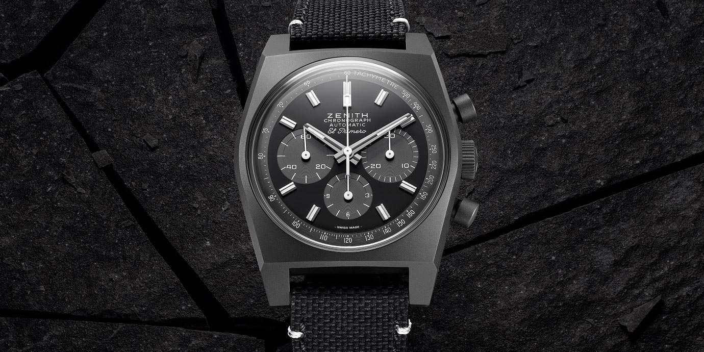 再現50年前的經典:Zenith Chronomaster復刻版「暗影」腕錶