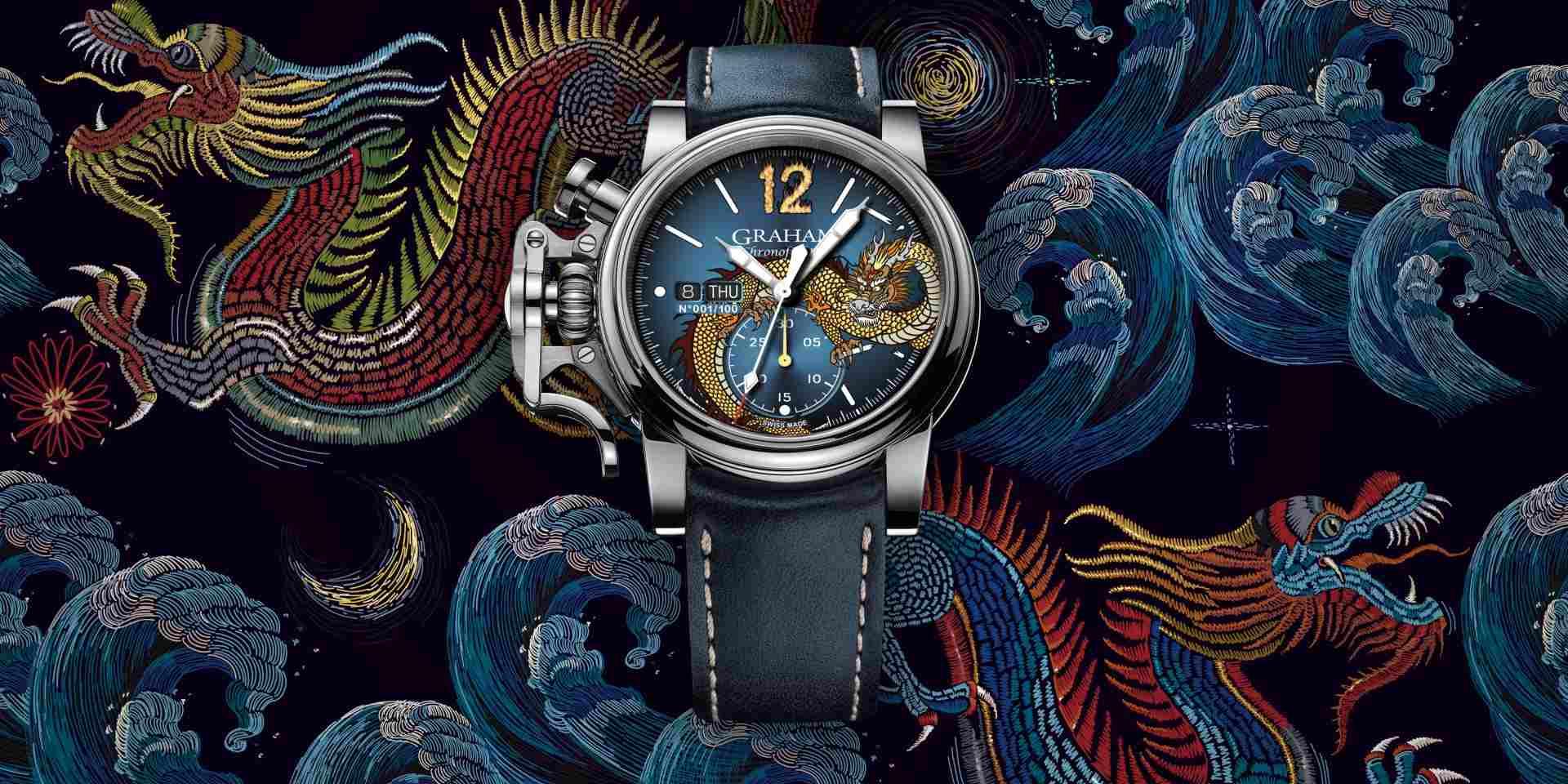 燃爆時間:GRAHAM戰機復古系列DRAGON限量腕錶