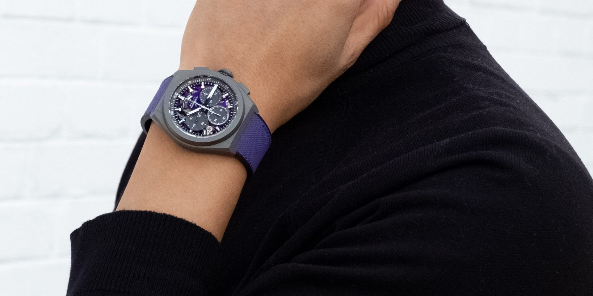 【2020線上錶展】ZENITH Defy El Primero 21 Ultraviolet腕錶,搭載品牌首款紫色計時機芯