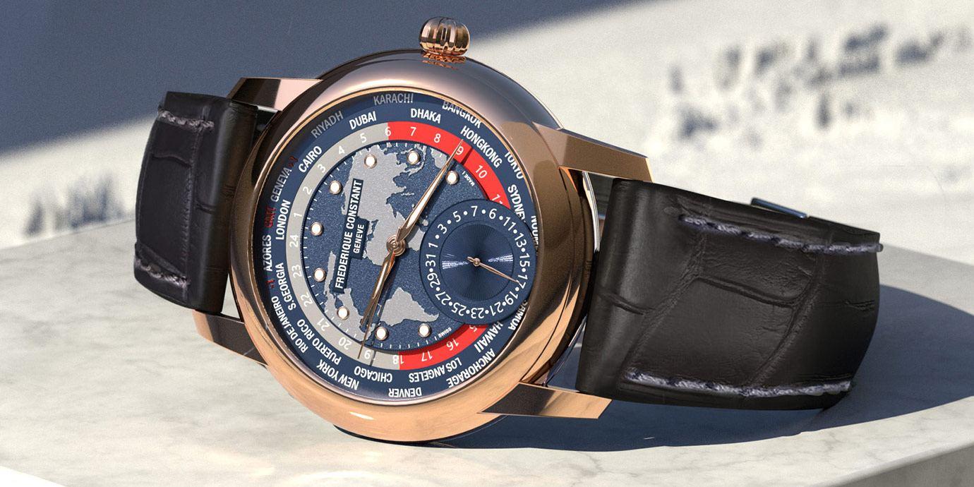 融會技術與美學:Frédérique Constant百年典雅自製機芯世界時區腕錶