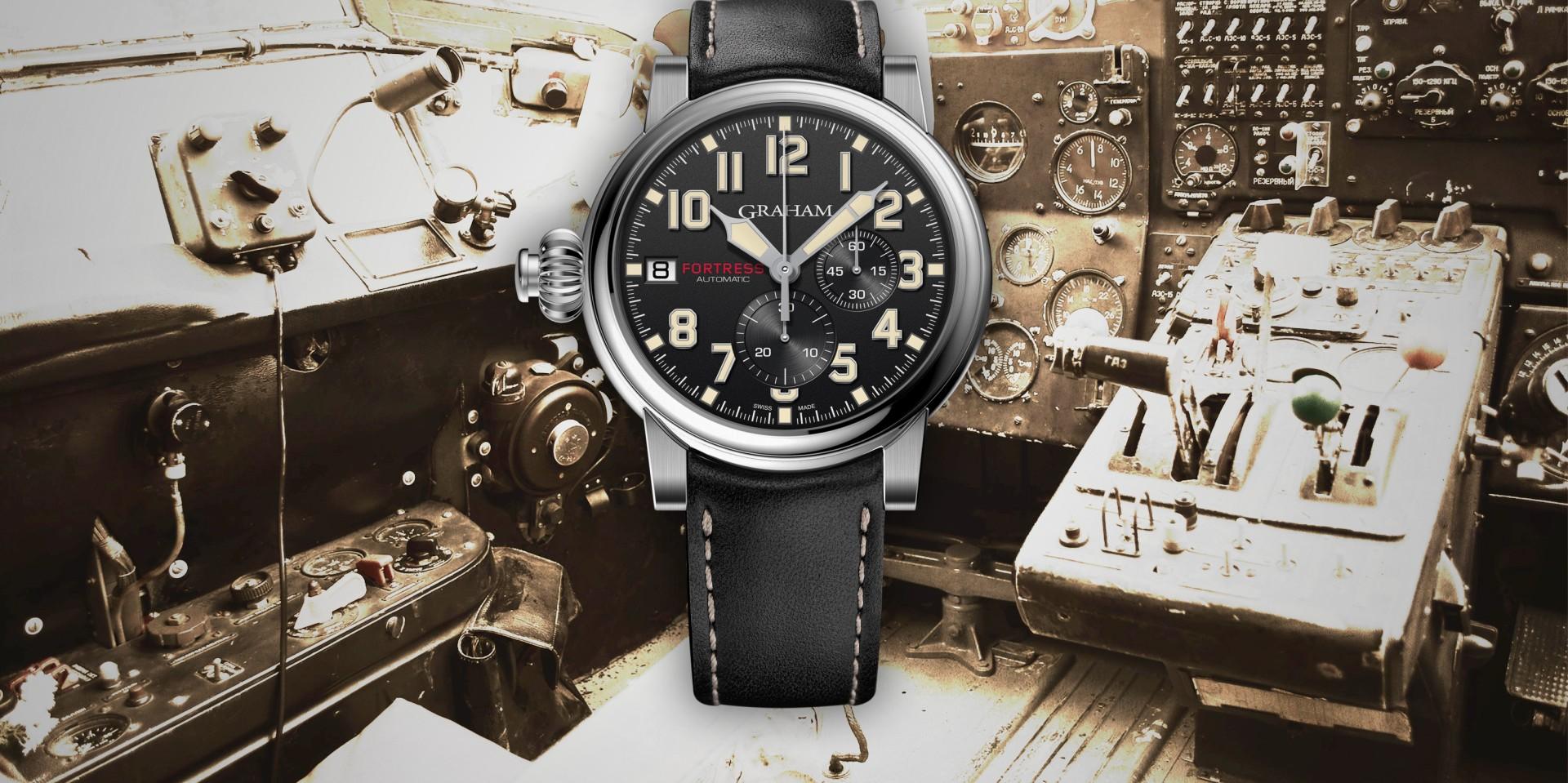 戴上它,你就是飛行員:Graham Fortress 堡壘限量左冠單按鍵計時腕錶