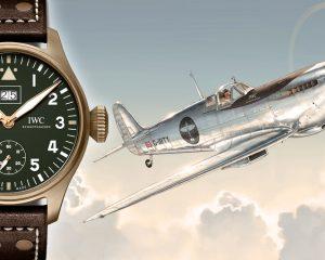 紀念「銀焰掠空-最長的飛行」遠征之旅:IWC噴火戰機大型飛行員大日期腕錶特別版