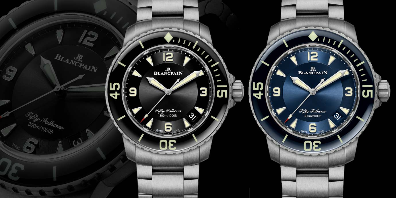 輕盈運動風:Blancpain五十噚系列鈦金屬鍊帶腕錶