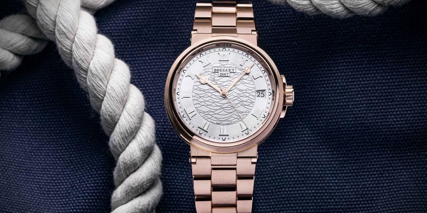 【2020線上錶展】華麗運動感:Breguet Marine系列貴金屬鍊帶新作