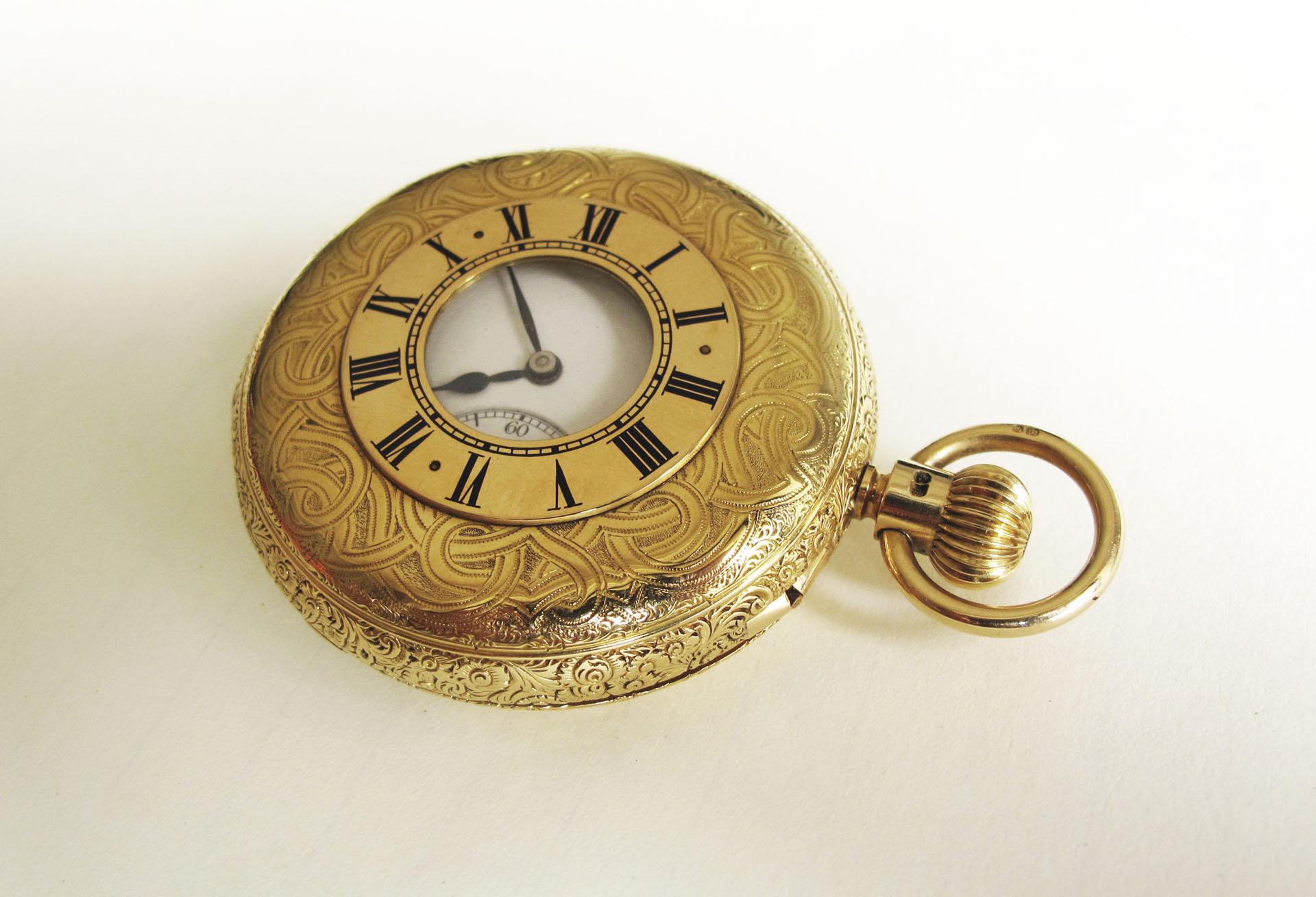 【曾士昕專欄】英式品味:一只具芝麻鍊傳輸裝置、衝擊式天文台擒縱結構與筒狀游絲的半獵錶