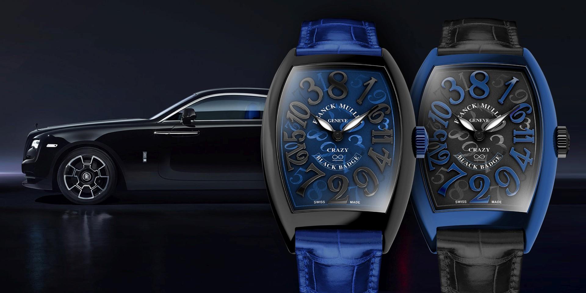 Franck Muller與日內瓦勞斯萊斯汽車聯手催生Crazy Hours Wraith Black Badge特別版腕錶與魅影Wraith Crazy Numbers