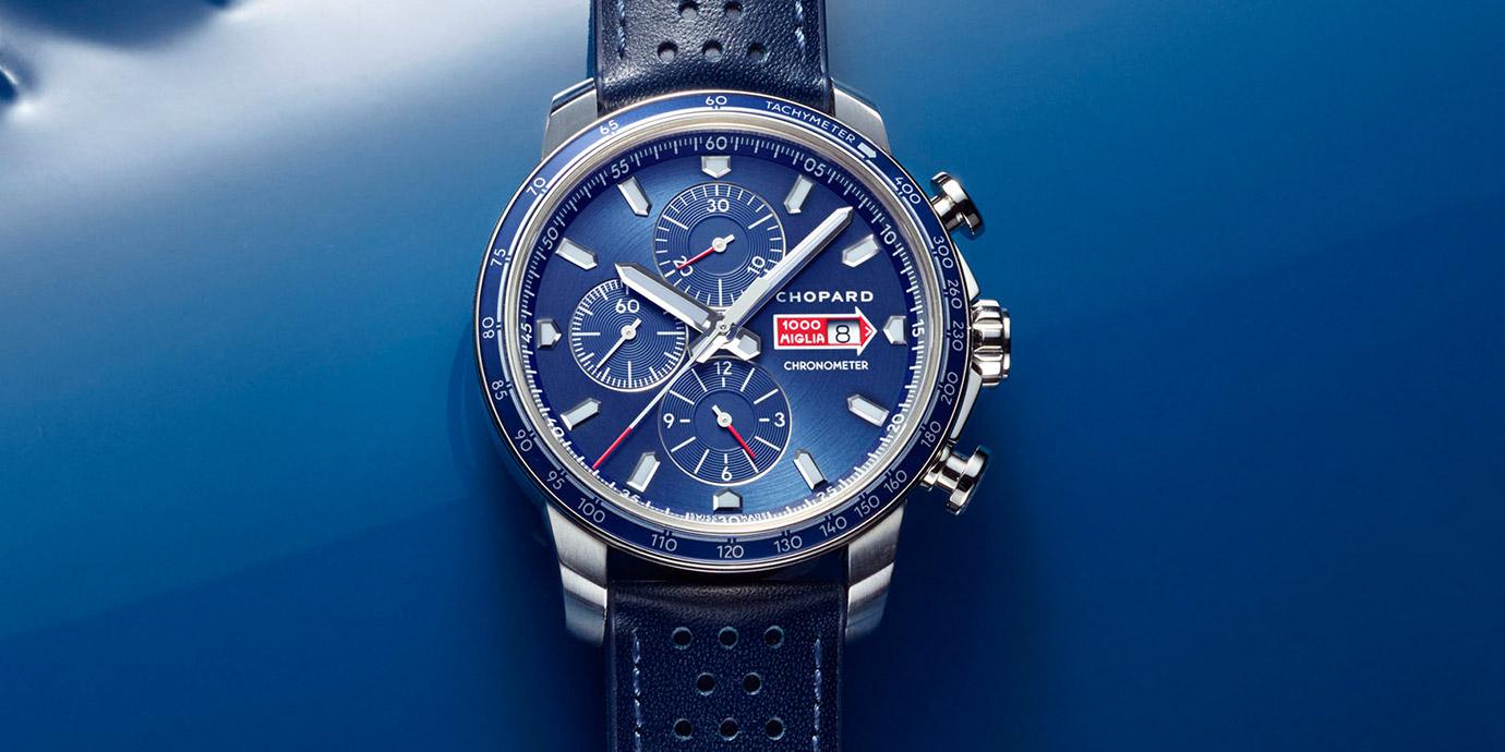 染上古董車賽的浪漫色彩:Chopard Mille Miglia GTS Azzurro系列腕錶
