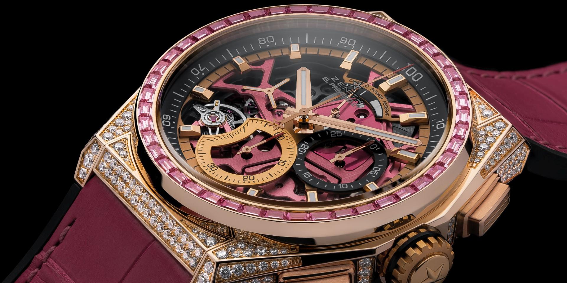 關愛女性、傳遞粉紅希望:ZENITH真力時推出Defy El Primero 21粉紅腕錶