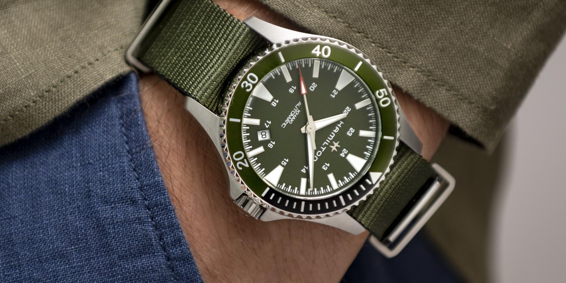 【2020線上錶展】剛毅海軍風型塑夏日旋律:Hamilton漢米爾頓全新Khaki Navy Scuba潛水腕錶