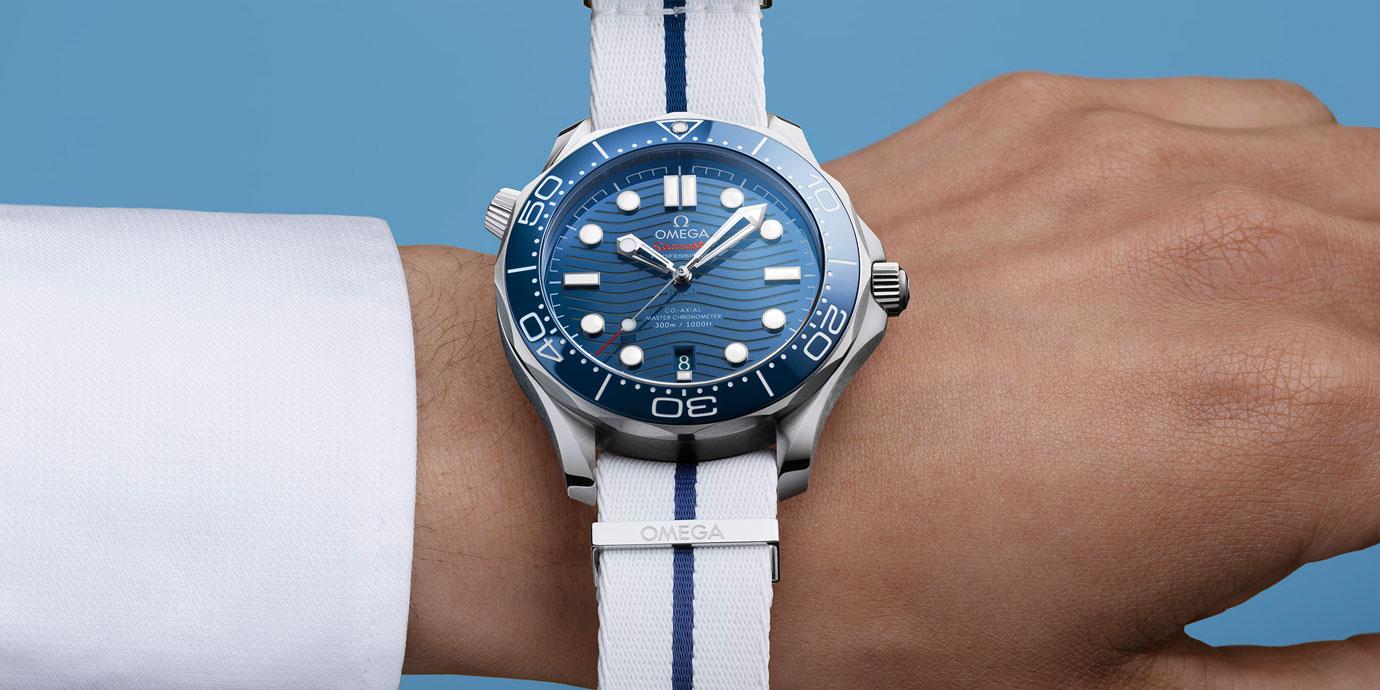 屬於夏日的色彩:Omega全新風格NATO錶帶
