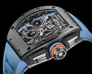 獨特金屬陶瓷護體:RICHARD MILLE RM 11-05飛返計時GMT自動上鍊腕錶