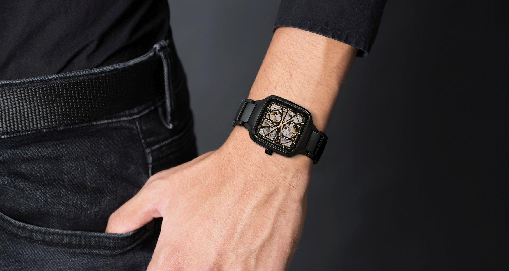 簡約時尚、真心以對:雷達 RADO True Square 真我系列方形高科技陶瓷鏤空自動腕錶
