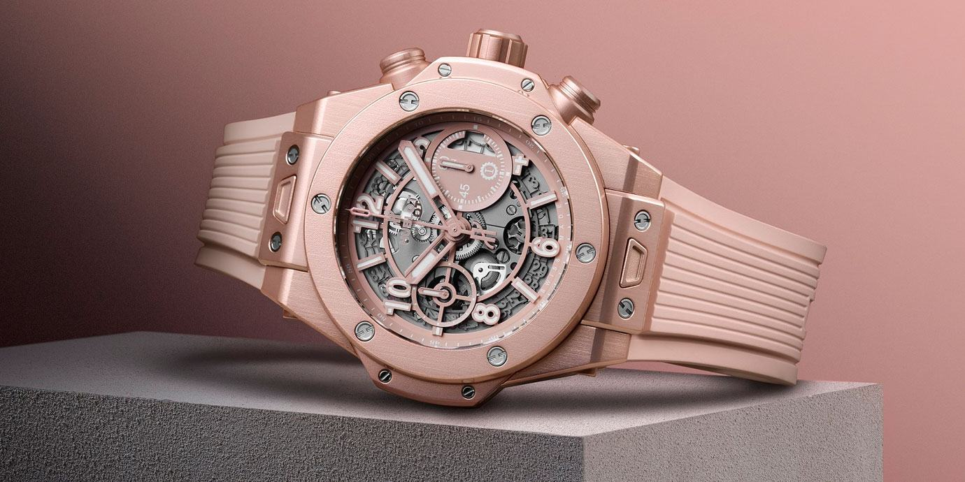 引爆少女心:Hublot Big Bang千禧粉腕錶